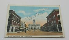 Antique Postcard Seventh Street Looking East Columbia Tennessee Downtown Scene