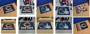 Chicago Bears Man Cave Rug All Star Utlity Starter Tailgater NFL FANMATS
