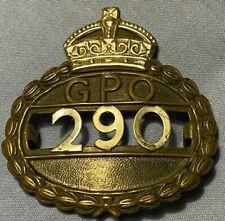 SUPERB ORIGINAL GPO POST OFFICE UNIFORM BADGE - NO 290 POSTMAN BADGE -