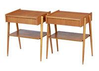 PAIR OF 1960's SCANDINAVIAN TEAK BEDSIDE TABLES