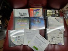 10 CDs Encarta, Compton's Encyclopedia, Street Atlas, Timetable of history, medi