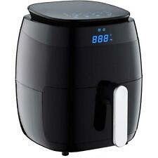 5 Qt. Air Fryer with Duo Touchscreen Display, Black w/ Kitchen Recipe Book New