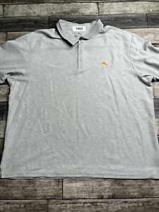 Tommy Bahama Polo Shirt Adult XXXL 3XL Gray Marlin Supima Rugby Mens A60*