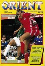 Football Programme>ORIENT v SOUTHAMPTON Jan 1985 FAC