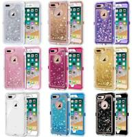 NEW For iPhone Glitter Liquid Flowing Sparkle Quicksand Case Fits Otterbox Clip