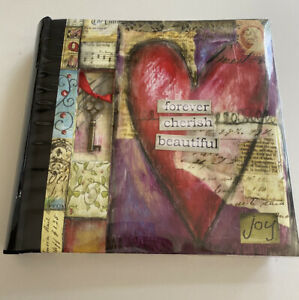 *NEW!* C R Gibson Photo Journal Album Metal Key Lisa Kaus Love Heart CD  Pocket