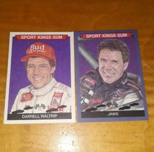 DARRELL WALTRIP Sportkings Volume 2 LOT of 2 Base + PARALLEL Blue JAWS #50 Rare