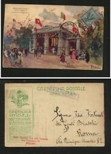 Italy  great   1906  expo  color  post card           MS0107
