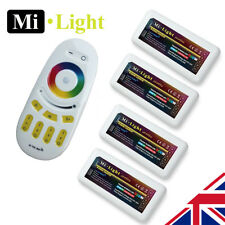 4 x Milight RGBW 2.4G 4 Zone WiFi RF led strip Receiver and Controller 5050 2835