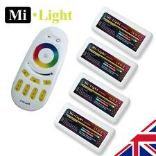 4 X MiLight RGBW 2.4G 4 zona Wi-Fi RF receptor y controlador de Tira de LED 5050 2835