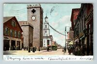 New Bedford MA North Congregational Church Purchase St Tuck Vintage Postcard Z48
