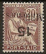 EGYPT PORT SAID 1921 PARIS SURCH 15m ON 20c SURCH INVERTED SG170a