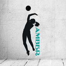 Personalized Girl Volleyball Player Wall Decal Removable Wall Lettering