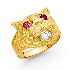 14K Yellow Gold Tiger Ring EJMR29731