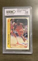 1986-87 Fleer Michael Jordan Rookie Sticker #8, Graded GEM Mint 10, RARE!