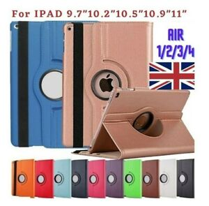 Leather 360 Rotating Smart Case For iPad Air 1/2/3/4 9.7 10.2 10.9 Pro 10.5 11