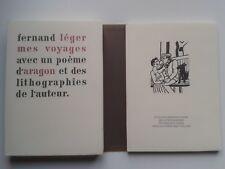"""Fernand LEGER """" Mes voyages """" Réimpression Edito-Servive avec LITHOGRAPHIES"""