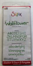 """Sizzlits Alphabet Die Set: Wallflower """"Brand New"""""""