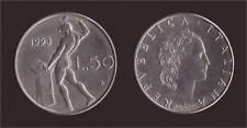 50 LIRE 1993 VULCANO - ITALIA - 3 LUNGO E ROMBO