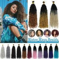 Afro Curly Crochet Braid Hair Extensions Ombre Water Wave Wavy Braids as Human