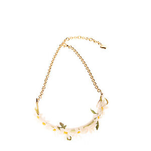 RRP €540 DOLCE & GABBANA Kids Chain Waist Belt Size 63 / M Daisy Embellished