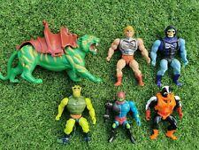 Vintage MOTU He-Man Skeletor Stinkor Trapjaw Battle cat Figures Bundle 80s