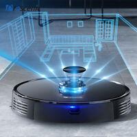 Laser robot aspirateur laveur Proscenic M7 Pro Alexa nettoyeur App mur virtuel