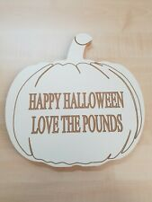 Wooden Personised Pumpkins