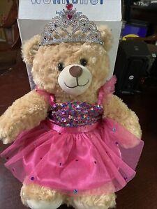 BUILD A BEAR ~ Brown Plush Princess Bear with Box