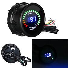 "2"" 52mm Blue Digital Led Meter Black Face Monitor Analog Air Fuel Ratio Gauge"