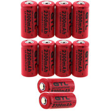 10xGTL 2300mAh 16340 CR123A Rechargeable Battery For Flashlight Torch Laser Toys
