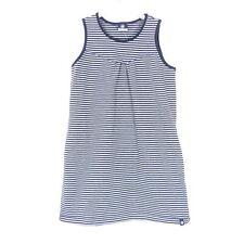 JAKO-O Kleid Sweat Stripes Streifen Blau Grau Gr. 128 134