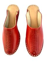 womens clogs shoes leather shoes ladies mules half shoes loafer mules slippers
