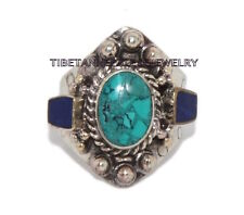 Adjustable Turquoise Ring Boho ring Lapis ring Tibetan ring Tibet Ring RB11