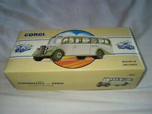 CORGI BEDFORD GREY/GREEN CLACTON MODEL 1993 LIMITED EDITION BOXED UNUSED
