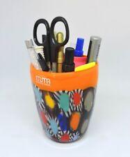 Portapenne in robusto e colorato vetro Murano, murrine millefiori, idea regalo