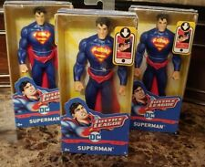"""3 Superman Justice League DC Comics Action Figure 6"""" Blue Red Cape New in Box"""
