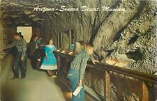 Tuscon~Sonora Desert Museum~Underground Tunnel~Gal in Pleated Skirt~1970