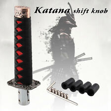 Kylin Universal Sword Shift Knob Samurai Shifter Katana Metal Black Red