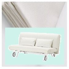 IKEA PS Sleeper Sofa Bed Gräsbo White Futon Cover 2 Pillow Slip NEW Pique'Grasbo