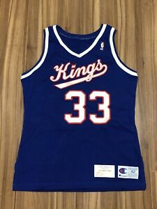 Jim Les Sacramento Kings Game Used/Issued Jersey Champion NBA
