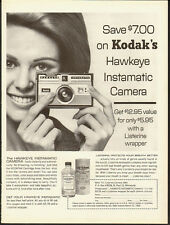 1965 Vintage Ad for Listerine Antiseptic~Kodak's Hawkeye Instamatic Camera