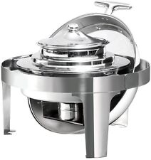 Commercial Roll Top Stainless Steel Bain-Marie Chafing Dish Soup Bowl Station