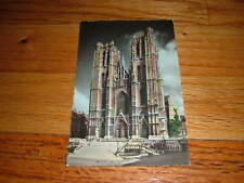 BRUSSELS Collegial Of SS Michael & Gudule old Postcard