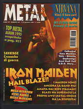 METAL SHOCK 207/1996 IRON MAIDEN VAIN SAVATAGE ATROCITY MY DYING BRIDE CATHEDRAL