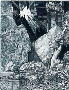 Hristo Kerin, Bulgaria, Historic Ex libris Bookplate Etching