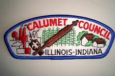OA CALUMET COUNCIL SHOULDER PATCH CSP ILLINOIS-INDIANA PIPE SERVICE FLAP