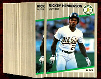 "1989 Fleer RICKEY HENDERSON ~ 20 CARD LOT ~ ""MAN OF STEAL""  TRADED BACK TO A's"