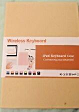 TOPLIFE Wireless iPad Keyboard Case for iPad Mini 1/2/3 - Red Wine + Charge Cord