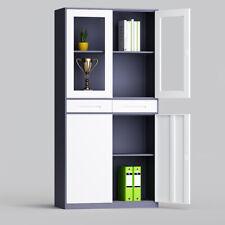 Metal Filing Cabinet glass door  drawers, 4 Layers Steel File Storage Cupboard